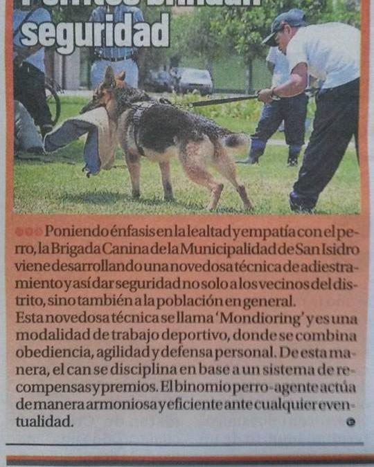 """La brigada Canina de San Isidro, se pone a la vanguardia con el primer Curso Privado de Seguridad Canina, bajo la técnicas del """"Mondioring"""" Impartido por Nuestro Centro y Simón Consuegra de España."""